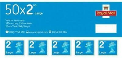 Royal Mail Second Class Large Letter Stamps Pack 50 63879X