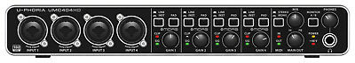 Behringer UPhoria UMC404HD Audiophile USB Audio & MIDI Interface - Tracktion