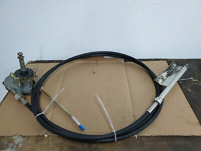Steering Cable Marine Teleflex Rack and Pinion Helm Bezel 16 ft Cable Length Ki