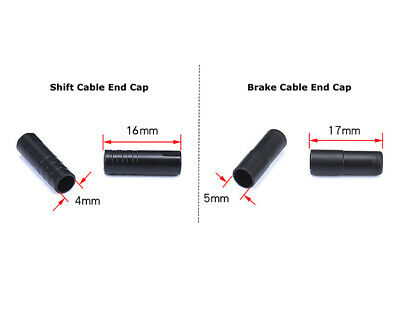 Bike Ferrules options Cycle Outer Gear Cable Housing Black 4mm Diameter SP