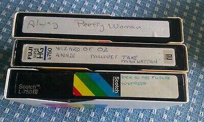 7 Movies 3 used Blank Beta VHR  Pretty Woman Annie, Back to the future, Witness
