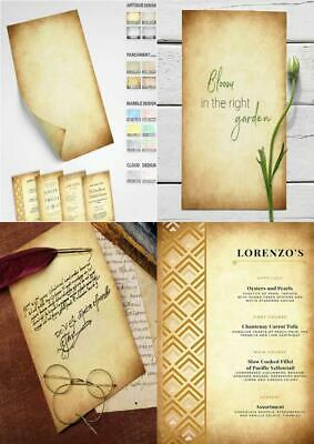 Augustus Premium Vintage Antique Paper - 60 Sheets 60