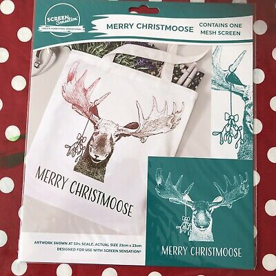 Screen Sensation 12 x 12 Screen - Merry Christmoose