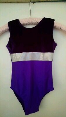 Girls Size 2 Purple/Silver Dance/Gymnastic Outfit... Free P&P!!