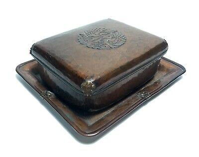 Antique Chinese Japanese Hand Chased Signed Copper Jewelry Trinket Box