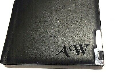 Personalised  Black Leather Wallet Engraved Inside And Out For Free