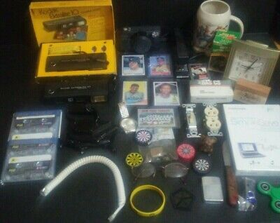 JUNK DRAWER LOT - Rogers Hornsby, Yankees, Kodak, Vintage, Elgin, Mark McGwire