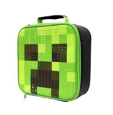 Minecraft - Green Face Lunch Bag Brand new AU SELLER