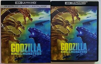 Godzilla King Of The Monsters 4K Ultra Hd Blu Ray 2 Disc Set + Slipcover Sleeve