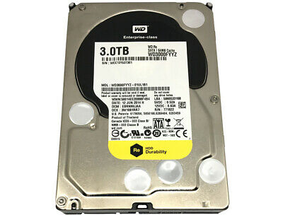 "Western Digital 3TB WD3000FYYZ 7200RPM 64MB SATA 6Gb/s 3.5"" Internal Hard Drive"