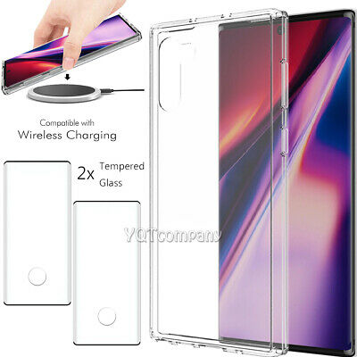 For Samsung Galaxy Note 10 Plus 5G Case Clear Shockproof Cover Screen Protector