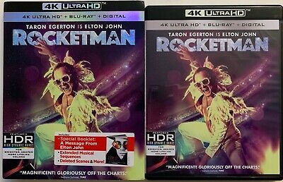Rocketman 4K Ultra Hd Blu Ray 2 Disc Set + Slipcover Sleeve & Booklet Eltonjohn
