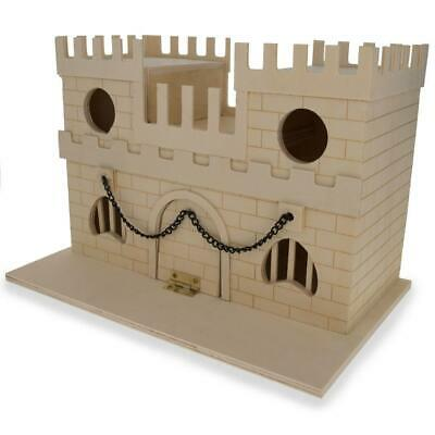 Blank Unfinished Wooden Birdhouse Castle 6.5 Inches