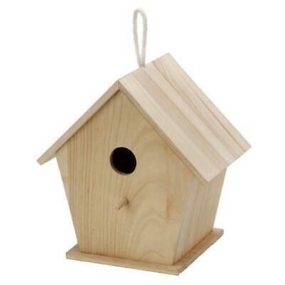 Blank Unfinished Wooden Birdhouse 9.5 Inches