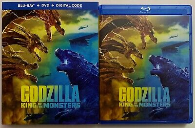 Godzilla King Of The Monsters Blu Ray Dvd 2 Disc Set + Slipcover Sleeve Buy It