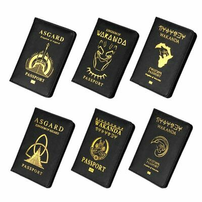 PU Leather Passport Case Holder RFID Blocking Travel ID Credit Card Wallet Cover