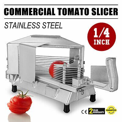 """Commercial Fruit Tomato Slicer 1/4""""Cutting Machine Sharp Vegetable Tools"""