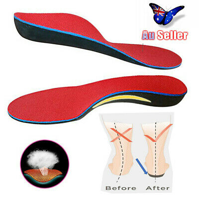 Orthotic Shoe Insoles Flat Feet Foot High Arch Gel Heel Support Inserts Pads AU