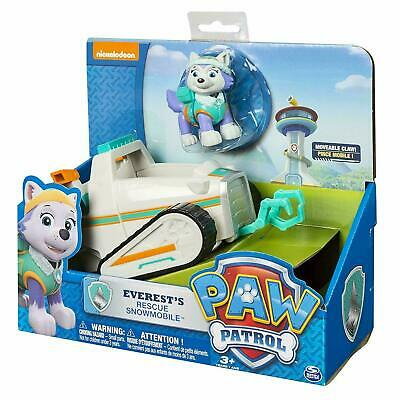 Paw Patrol Everest's Rescue Snowmobile Vehicle Figure Toy Set *NEW*