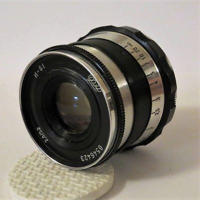 Lens INDUSTAR (И) I-61 L/D 2.8/52mm Leica screw M39 Zorki FED RF Made in USSR.