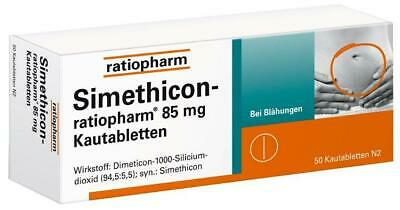 Simethicon-ratiopharm 85 mg Kautabletten 50 St PZN: 1364796