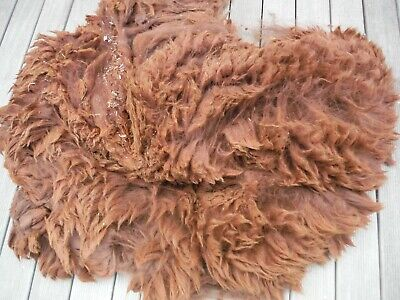 Alpaca Fleece. Saddle. Solid Dark Brown. Rhyanna. 15cm