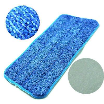 3 Pcs Blue Microfiber Mop Pads Head Wet Dry Mops Refill For Flat Mop Base