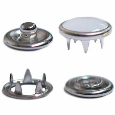 2x 50 Sets Nickle Plated PRESS STUDS SNAP POPPER Snaps Fasteners 11mm /& 9.5mm