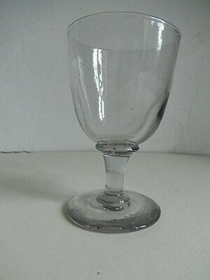 Glass, Georgian 'rummer', pleasantly heavy in the hand 11.6 cm tall 190 gms.