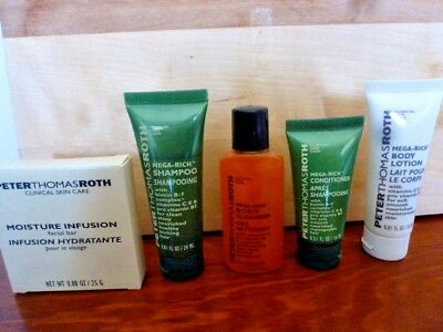 Peter Thomas Roth Travel Size Body Cleans Body Lotion, Soap, Shampoo Conditioner