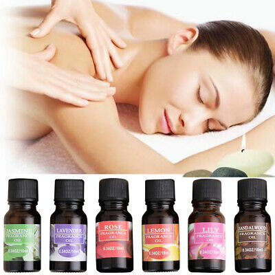 Essential Aromatherapy Oils Natural Pure Organic Oil 10ml Fragrances Therapeutic