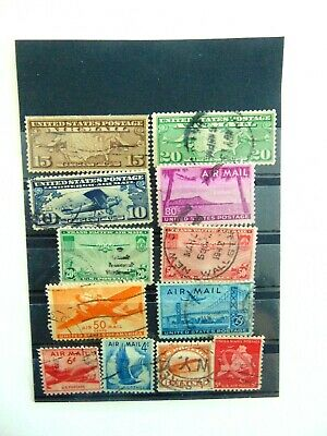 10 Us Global Air Mail Stamps International Reply Postage