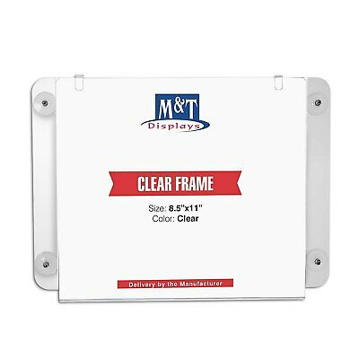 M&T Displays Acrylic Clear Sign Holder (8.5x11 Landscape)