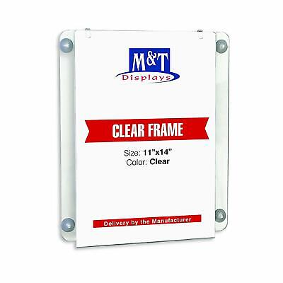 M&T Displays Acrylic Clear Sign Holder (11x14 Portrait)