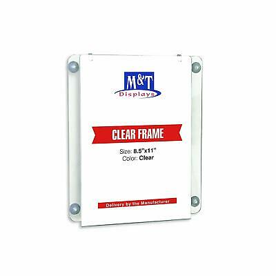 M&T Displays Acrylic Clear Sign Holder (8.5x11 Portrait)