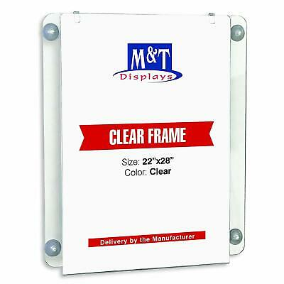 M&T Displays Acrylic Clear Sign Holder (22x28 Portrait)