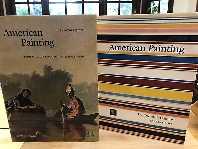 2 AMERICAN PAINTING The 20th Century SKIRA & From It's Beginnings In Slip Case