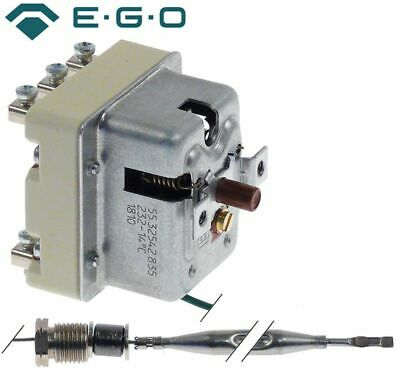 Ego 55.32542 835 Safety Thermostat Switch-Off Temp. 225°C 3-Pole 20A Probe D 6Mm