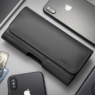Horizontal PU Leather Case Pouch Holster Belt Clip Cover For iPhone 8/7/6 Plus