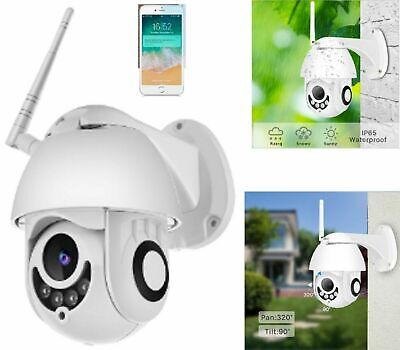 Telecamera 1080P Hd Full Ptz Zoom Ip Camera Motorizzata Ir Wifi Color Esterna
