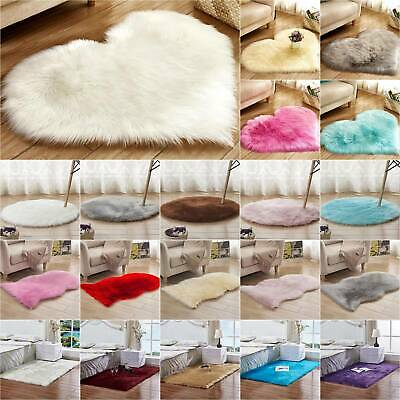 Washable Fluffy Rug Anti-Skid Shaggy Area Rugs Carpet Living Room Floor Mat Home
