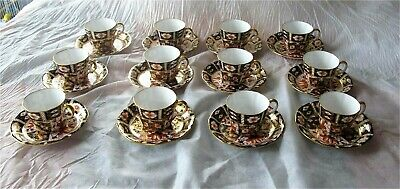Royal Crown Derby Traditional Imari 2451 Tea / Coffee Cup & Saucer x 12 -  24 pc