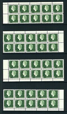 CANADA Scott 402 - LH - Matched Set - 2¢ Green Cameo (.016)