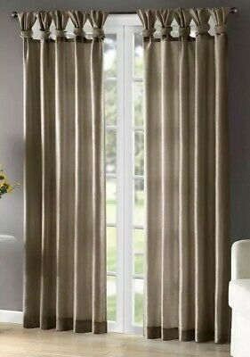 "Madison Park MP40-2686 Emilia Window Curtain, 50 x 108"", Bronze"