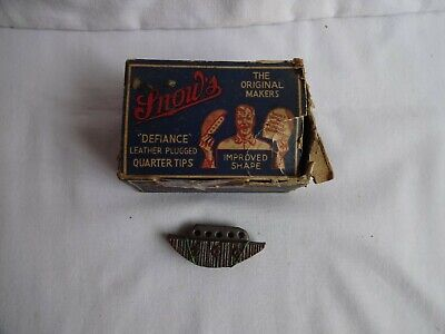 Vintage Snow`s Steel Quarter Tips for DIY Shoe Repairs Box of 11 pairs