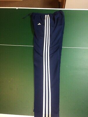 Women's Classic Adidas Athletic Pants Size Medium Navy Blue White Stripes