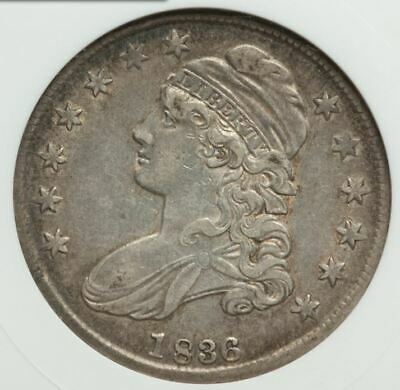 1836 Capped Bust Half 50/00 ANACS XF45