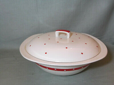 Midwinter Stylecraft Red Domino Lidded Vegetable Tureen