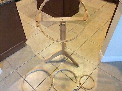 "Hinterberg 22"" Quilting Hoop With Adjustable Stand  Pre-Owned Collectors Item"