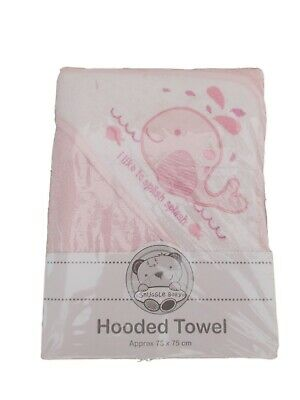 Brand new with tags baby girls boys pink or blue hooded bath towel